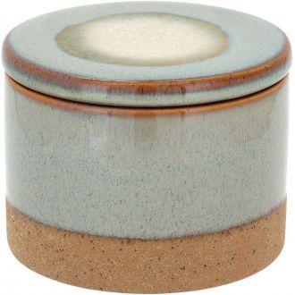 Potiche com Tampa em Cerâmica Cayo 9,5cm Areia