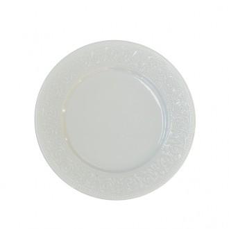 Prato de Sobremesa de Porcelana Branco Avulso
