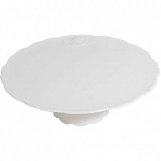 Prato para Bolo Queen em Porcelana Branco