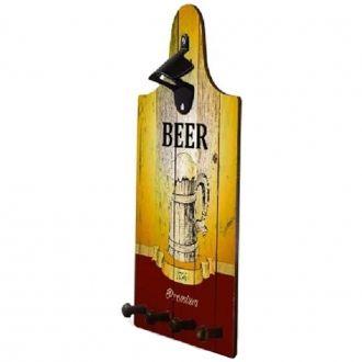 "Quadro Abridor de Garrafa e Porta Chave ""Beer 1756 Premium"""