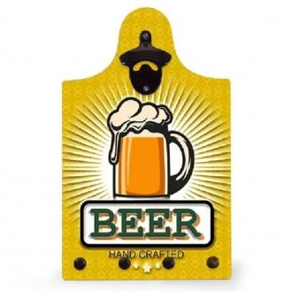"Quadro Abridor de Garrafa e Porta Chave ""Great Beer List Promotion"""