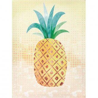 Quadro Decorativo Canvas Abacaxi Colorido