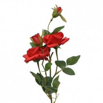 Rosa Artificial Microp X4 Vermelho 80cm