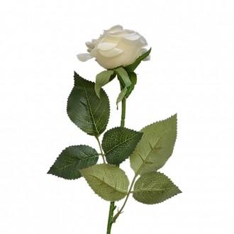 Rosa Artificial Toque Real Branca 45cm