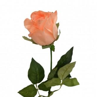 Rosa Artificial Toque Real Salmão 75cm