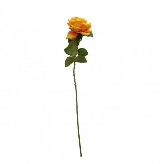Rosa Artificial Veludo Lx Amarelo 76cm