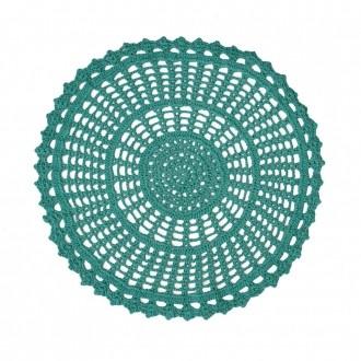 Sousplat Crochê Azul Tiffany 33cm
