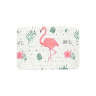 Tapete Floffy Joyful Flamingo Poliéster 40x60cm
