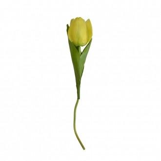 Tulipa Artificial Cetim c/ Coat Amarelo 38cm
