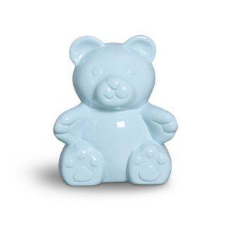 Urso Decorativo em Cerâmica Azul