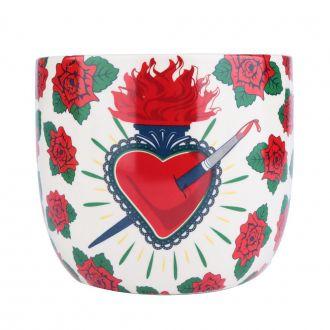 Vaso Cachepô De Cerâmica Frida Kahlo Flowers