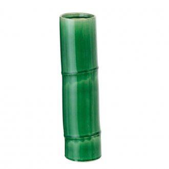 Vaso Decorativo em Cerâmica Bambu Verde