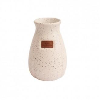 Vaso Decorativo em Cerâmica Granilite Branco