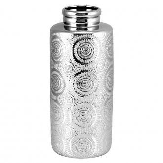 Vaso Decorativo em Cerâmica Prata 32cm
