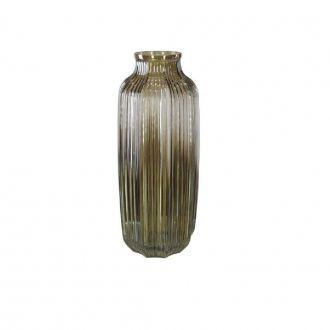 Vaso Decorativo em Vidro Cinza 31cm