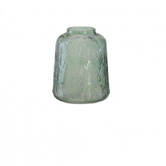 Vaso Decorativo em Vidro Verde 20cm