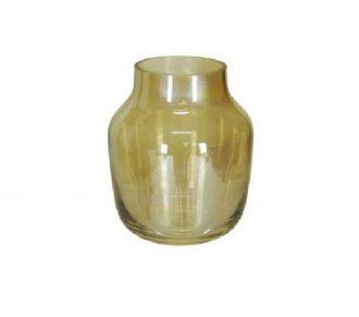 Vaso Decorativo Vidro Âmbar 18cm