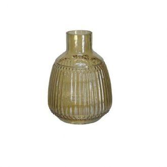 Vaso Decorativo Vidro Âmbar 20cm