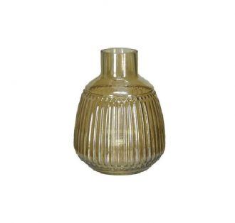 Vaso Decorativo Vidro Âmbar 25,5cm