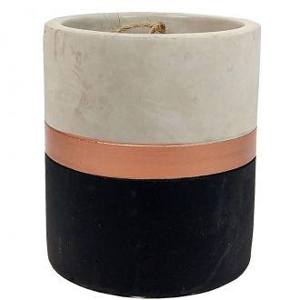 Vaso Preto e Cobre em Cimento M