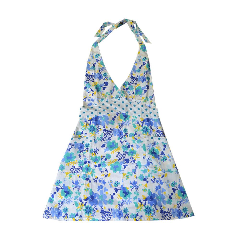 Avental Grace Floral Azul