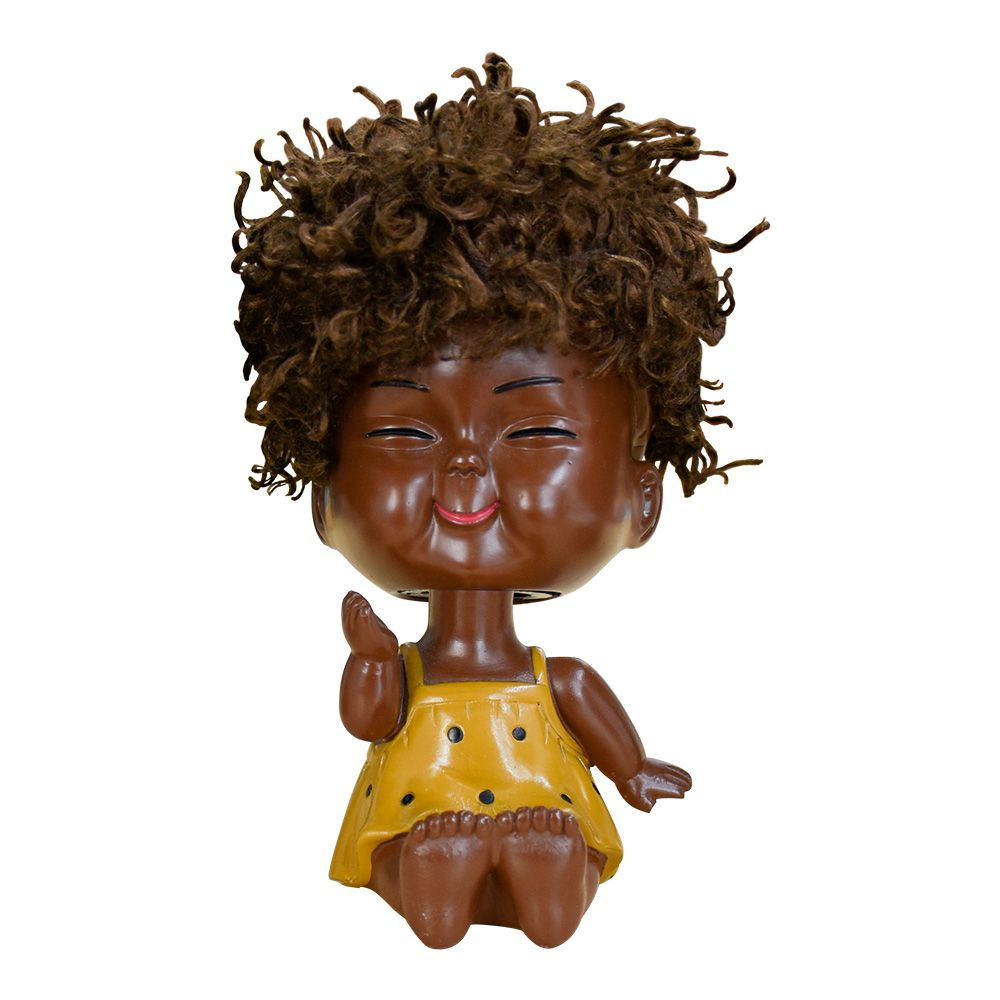 Bebê Decorativo Black Power Amarelo