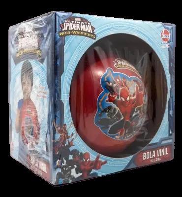 Bola De Vinil Na Caixa Spider Man Cor Vermelho