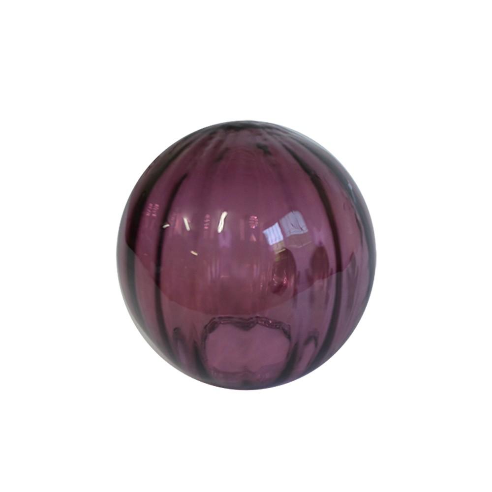 Bola Decorativa em Vidro Ametista Translúcido