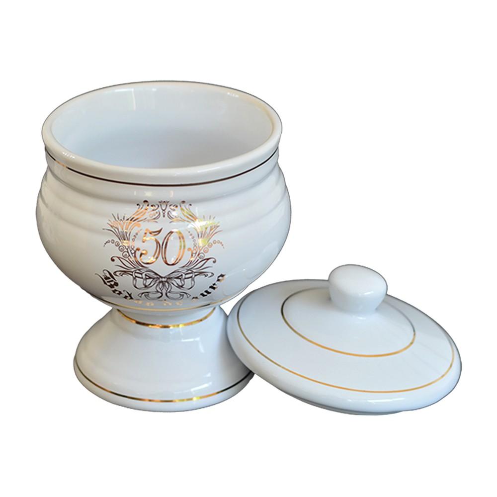 Bomboniere de Cerâmica Bodas de Ouro