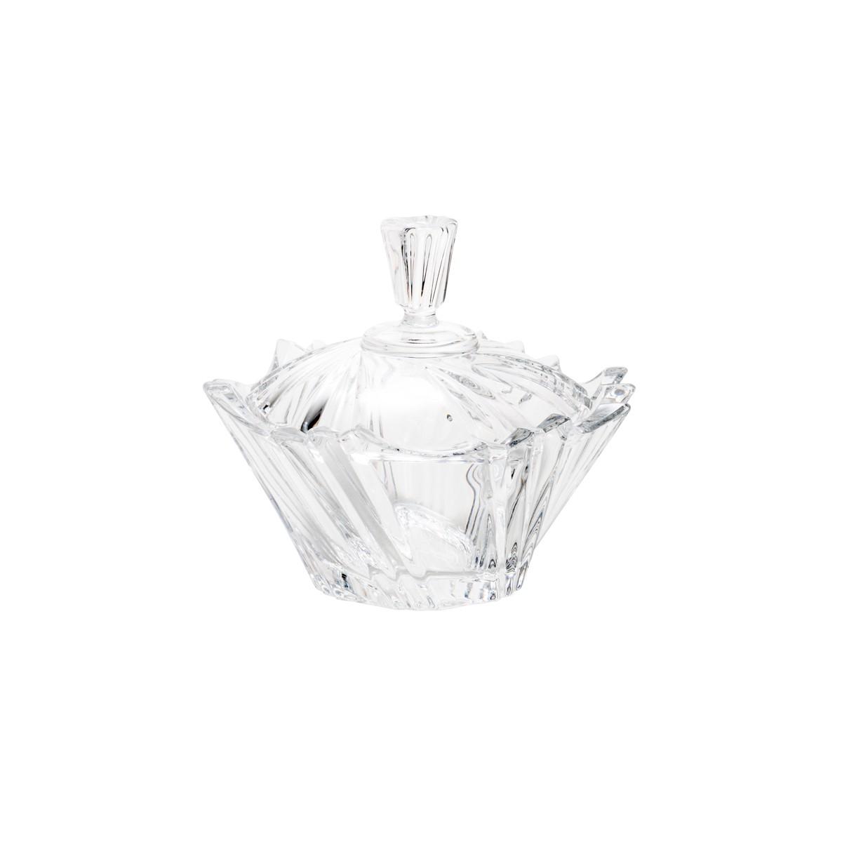 Bomboniere de Cristal com Tampa Ikaro Bohemia 13cm