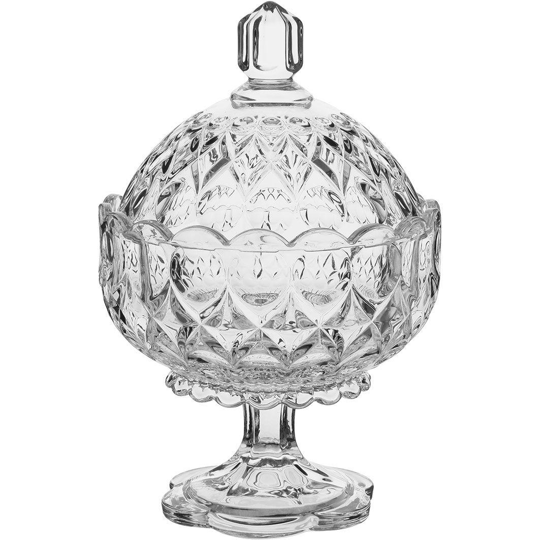 Bomboniere Decorativa Angelica de Vidro 24cm