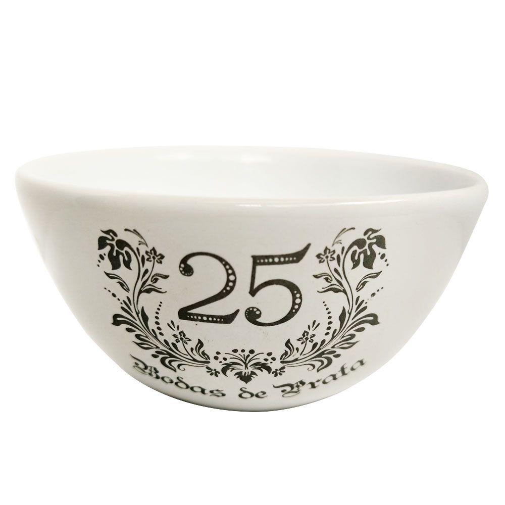 Bowl Avulso de Cerâmica 12,5cm - Bodas de Prata