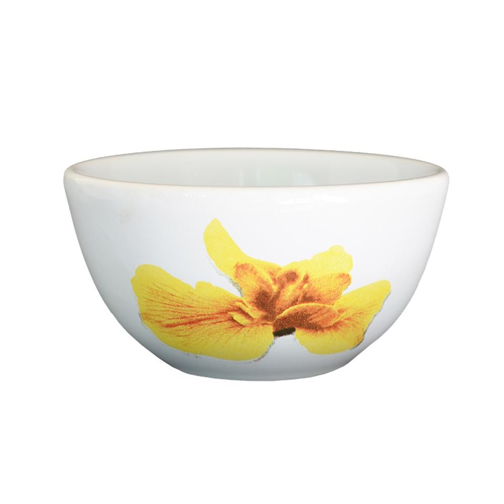 Bowl de Cerâmica Orquídea Amarela