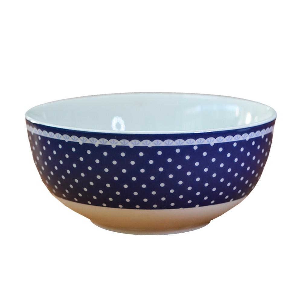 Bowl em Porcelana Viena Azul Poá