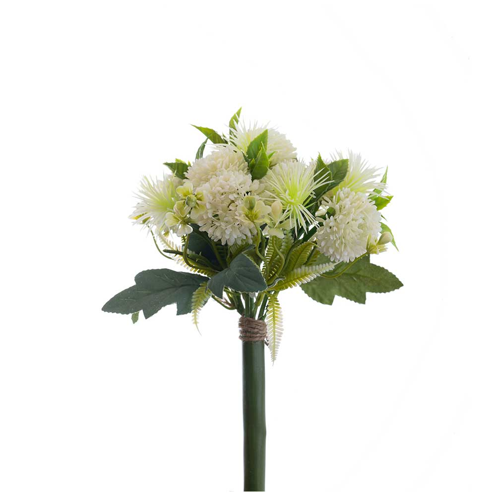 Buquê Artificial Flores e Complementos X11 Branca 28cm