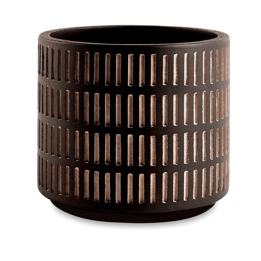 Cachepot de Cimento Preto e Cinza Pequeno