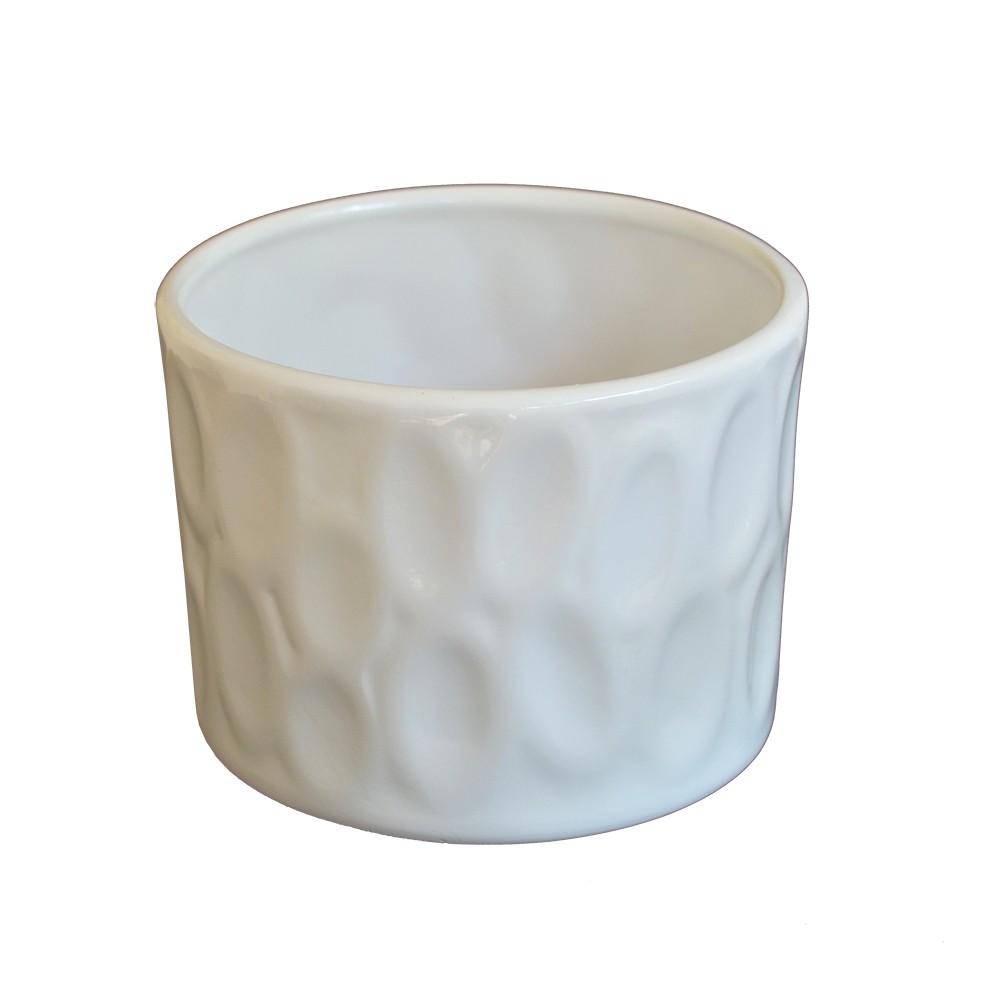 Cachepot em Cerâmica Branco Adventure
