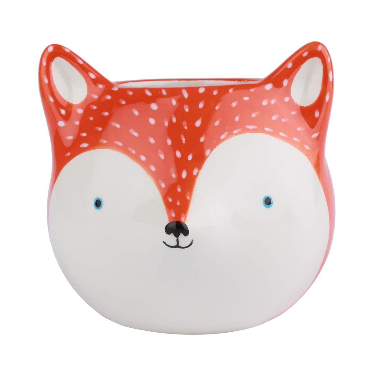 Cachepot em Cerâmica Raposa Fox Laranja