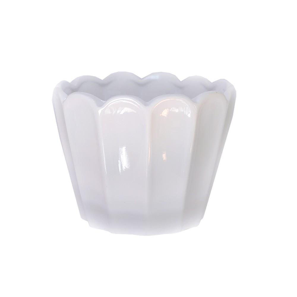 Cachepot em Cerâmica Sion Clássica Branco