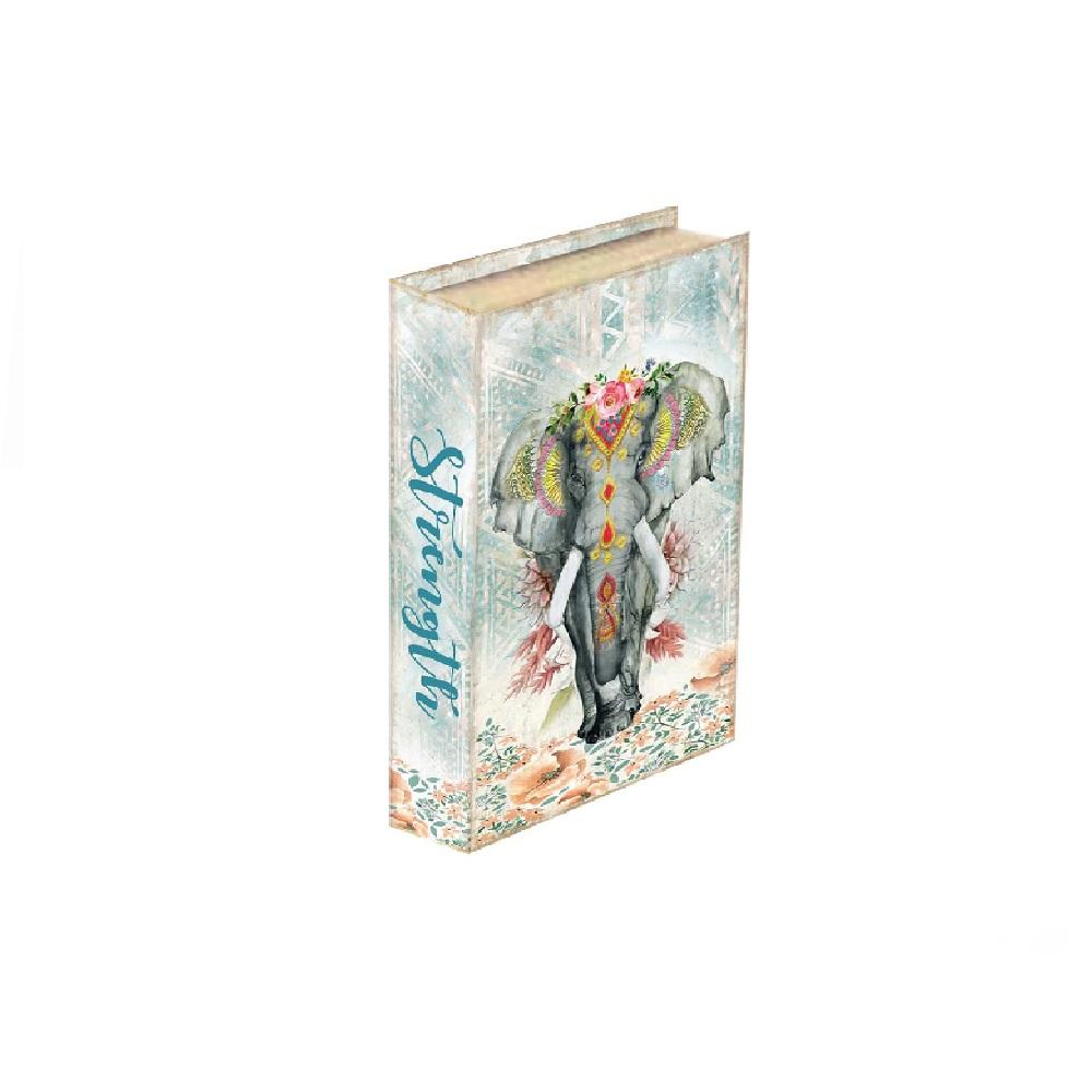 Caixa Livro Elefante Indiano 26x17x3,5cm