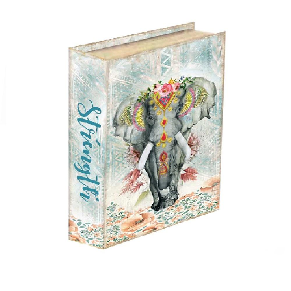 Caixa Livro Elefante Indiano 30x24x5cm