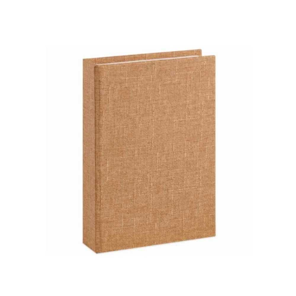Caixa Livro em Linho Bege 25X18X4,5cm