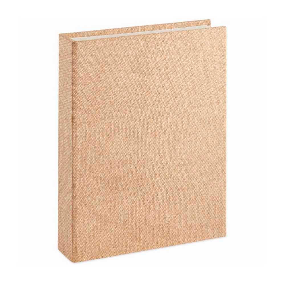Caixa Livro em Linho Bege 30X24X5cm