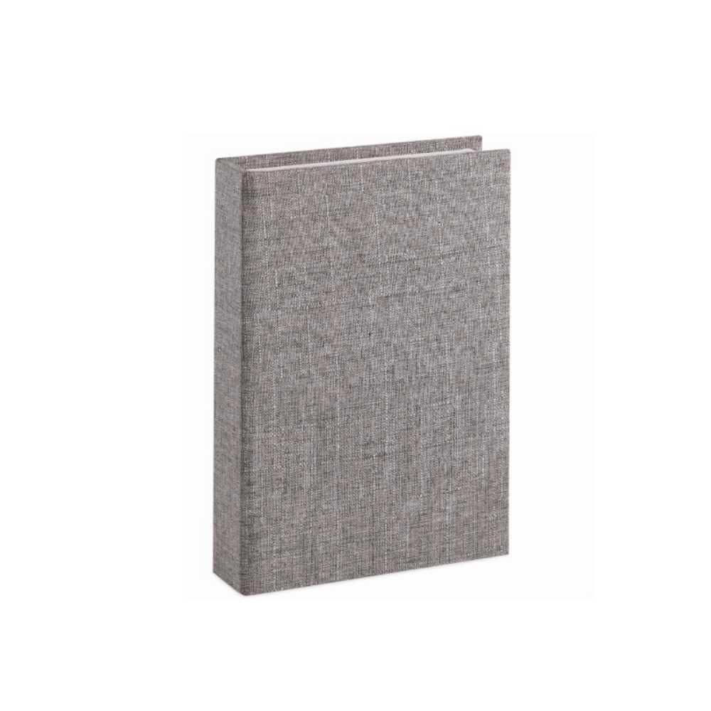 Caixa Livro em Linho Cinza 25X18X4,5cm