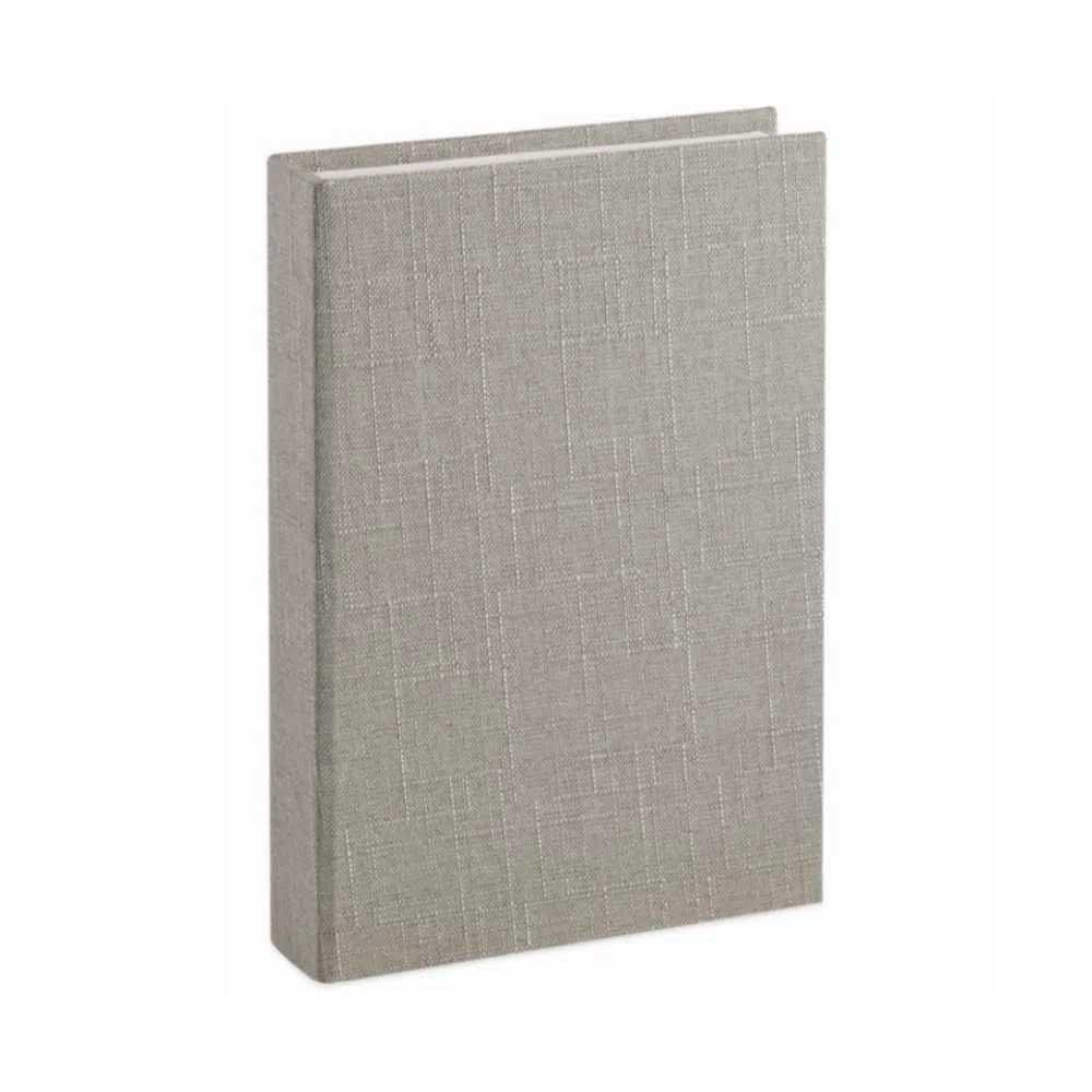 Caixa Livro em Linho Cinza 28X20X5cm