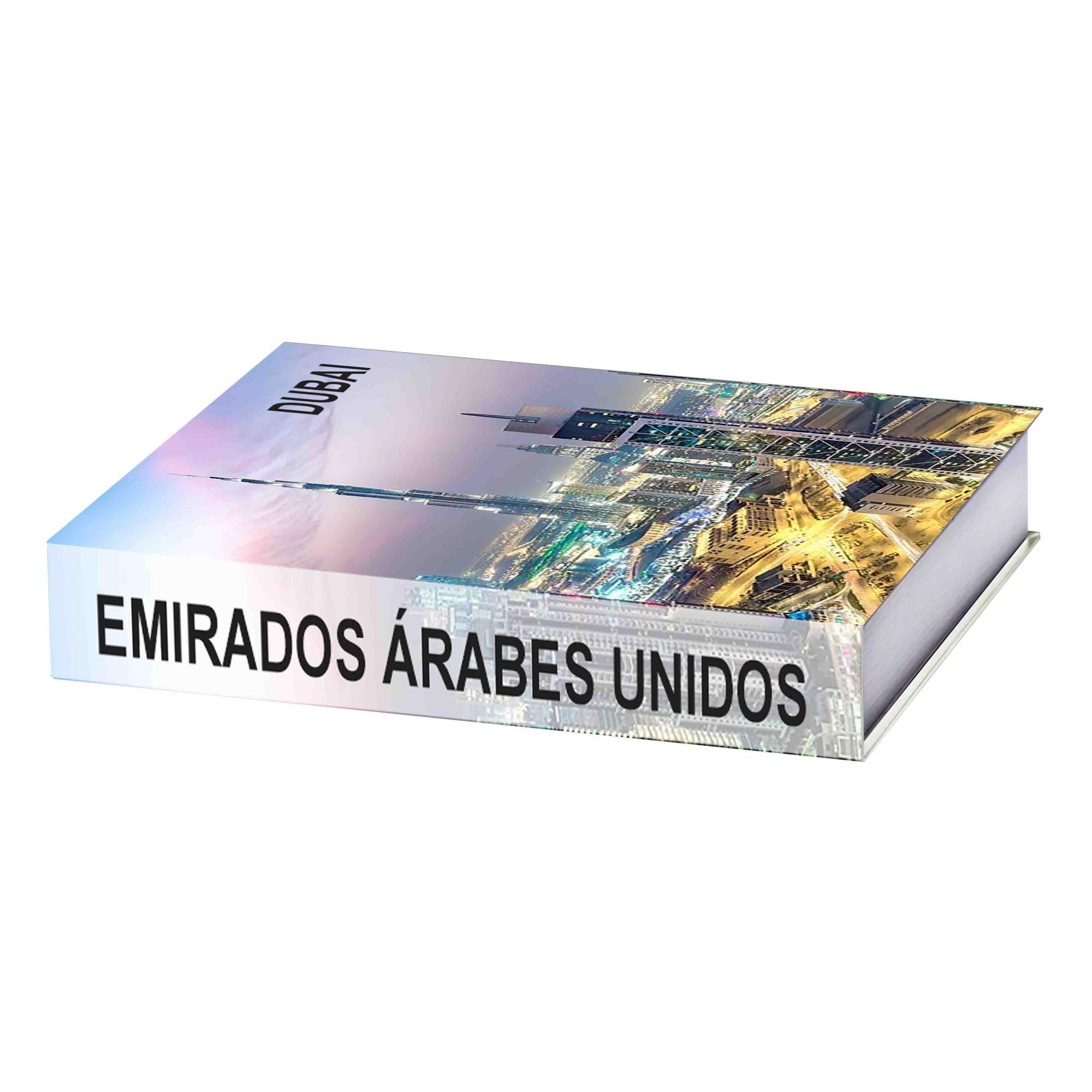Caixa Livro Emirados Árabes 25X18X4,5cm