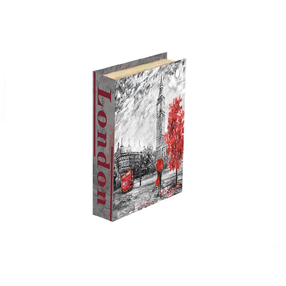 Caixa Livro London 26x17x3,5cm