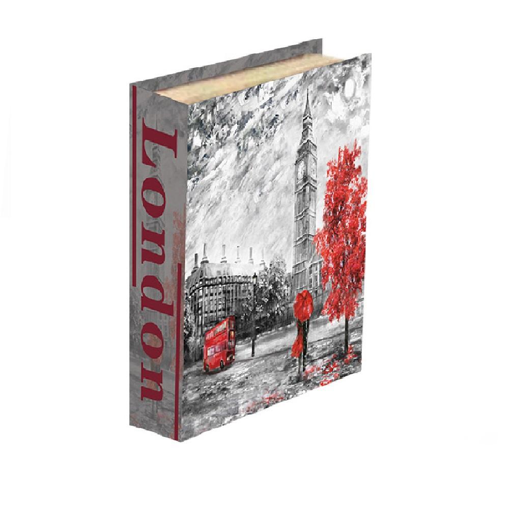 Caixa Livro London 30x24x5cm