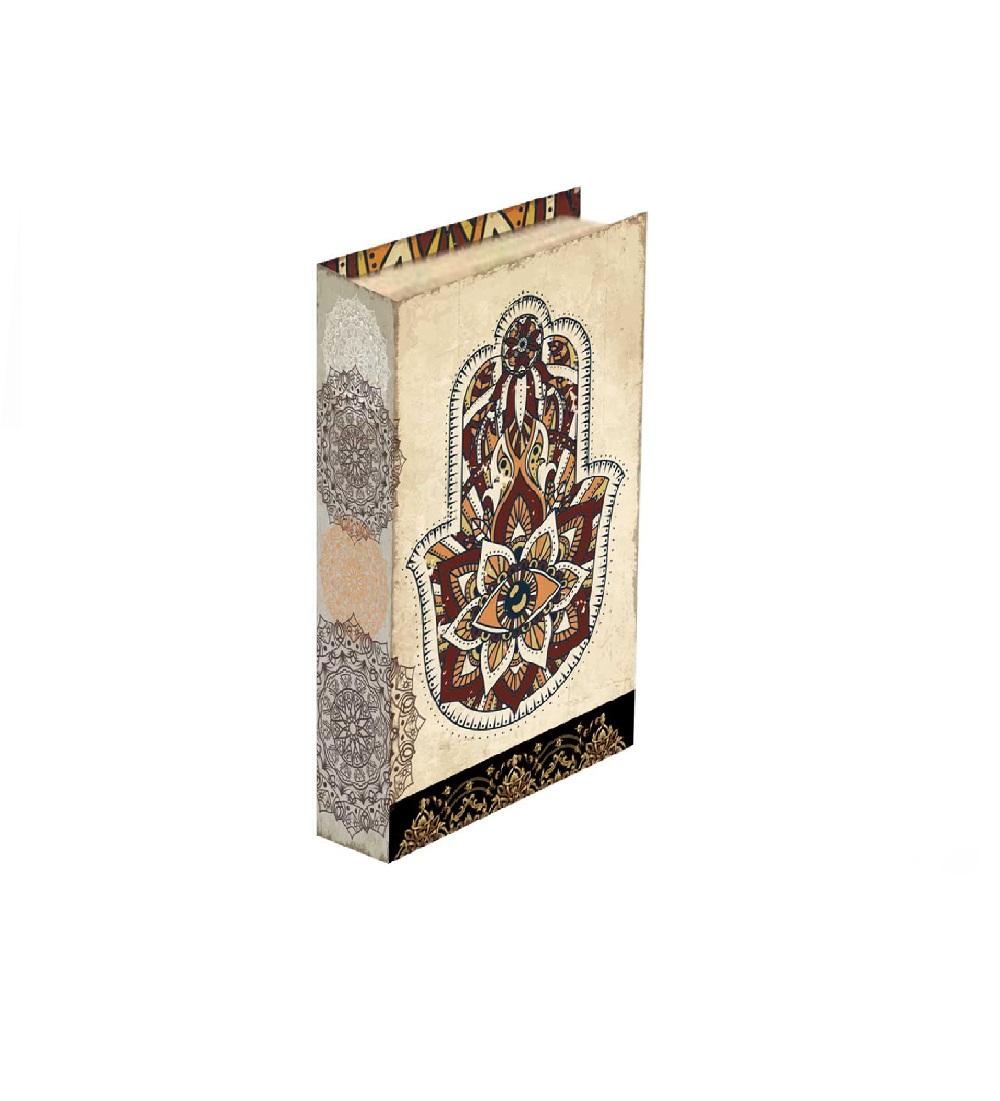 Caixa Livro Mão de Maria 26x17x3,5cm