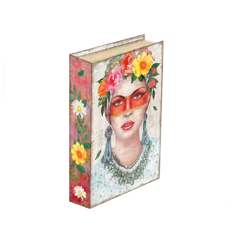 Caixa Livro Mulher Mexicana 26x17x3,5cm
